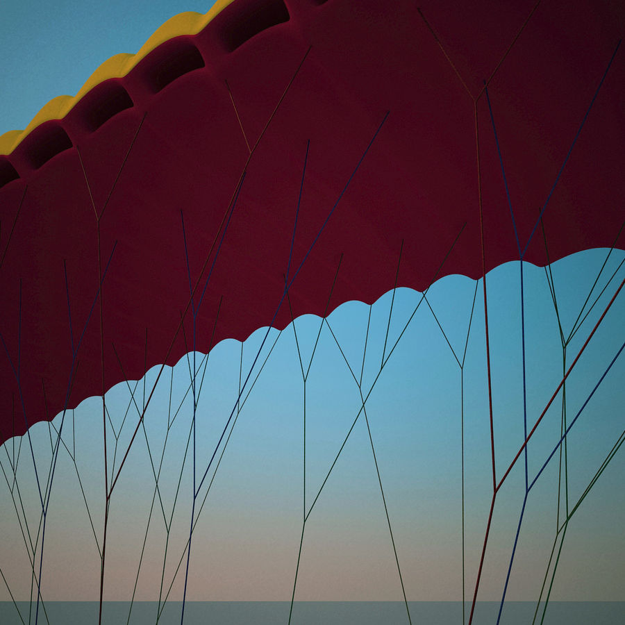 Paragliding royalty-free 3d model - Preview no. 9
