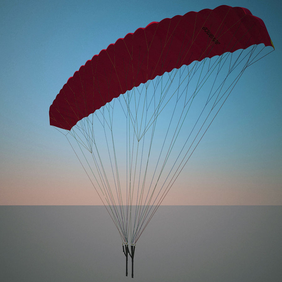Paragliding royalty-free 3d model - Preview no. 4