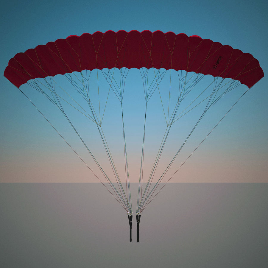 Paragliding royalty-free 3d model - Preview no. 3