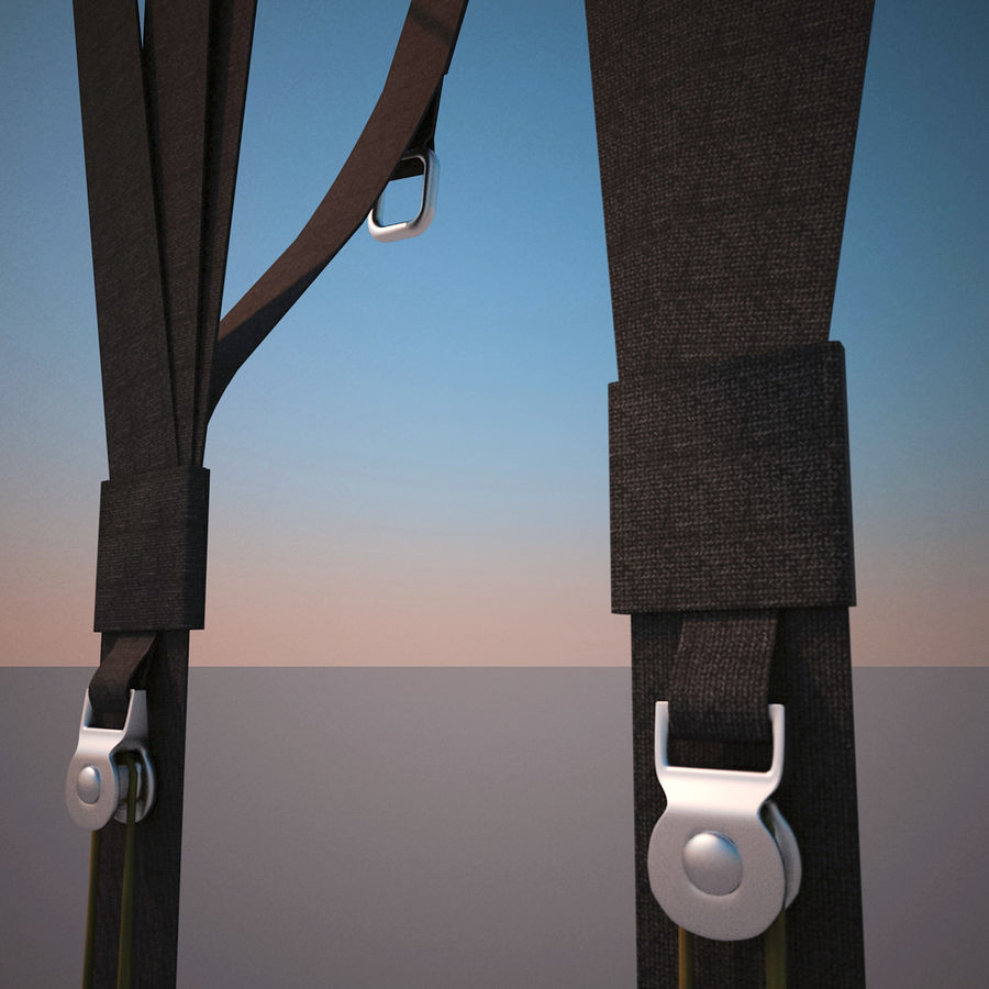 Paragliding royalty-free 3d model - Preview no. 12