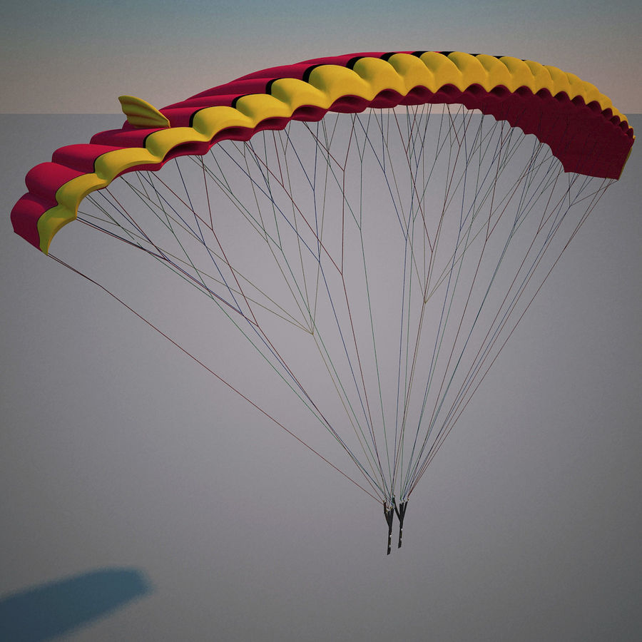 Paragliding royalty-free 3d model - Preview no. 5