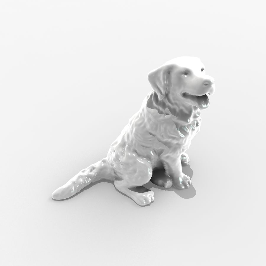 Chien de montagne bernois royalty-free 3d model - Preview no. 1