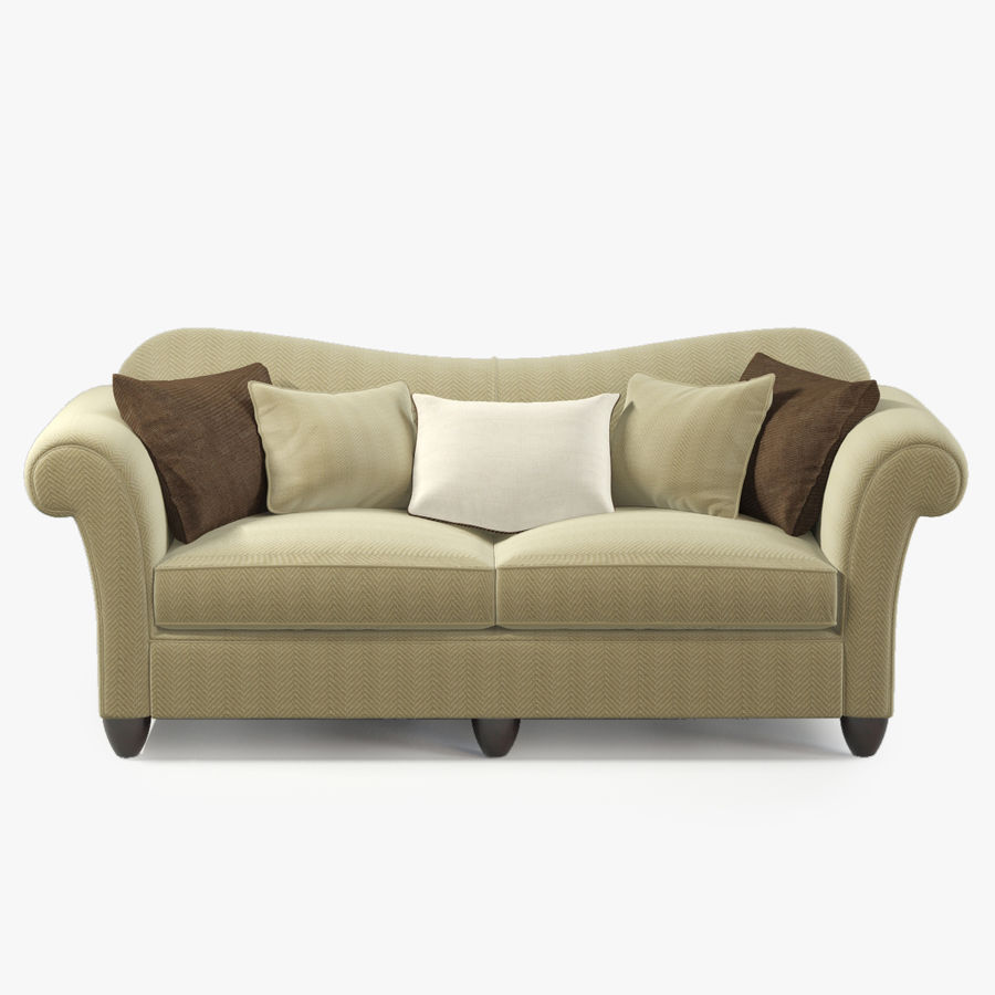 Baker HIGH BACK ROLLED ARM SOFA 821 86 Royalty Free 3d Model   Preview