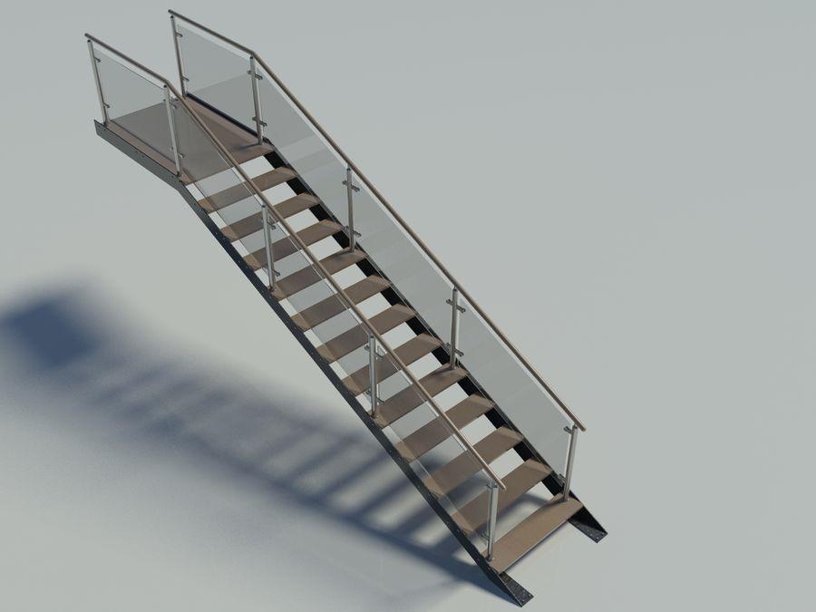 Escalier moderne droit modèle 3D $40 - .3ds .max - Free3D