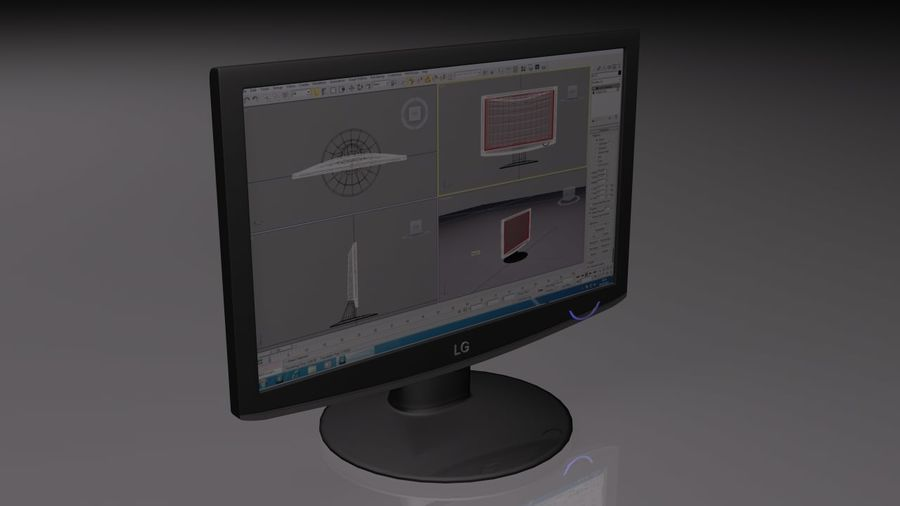 Computer LCD-Monitor royalty-free 3d model - Preview no. 1