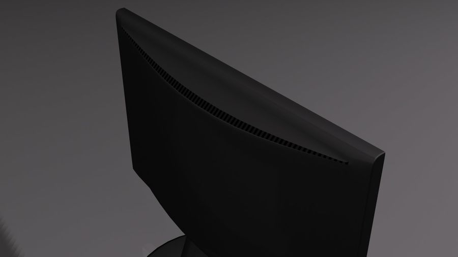 Computer LCD-Monitor royalty-free 3d model - Preview no. 3