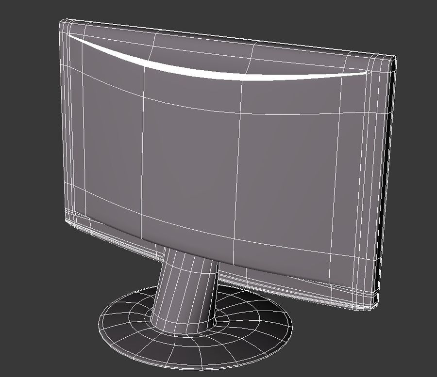 Computer LCD-Monitor royalty-free 3d model - Preview no. 6
