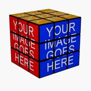 Rubiks Cube with Images 3d model