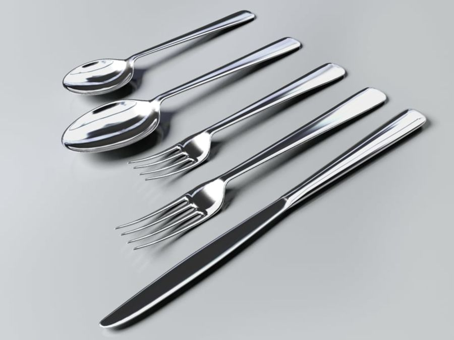 Tableware royalty-free 3d model - Preview no. 4