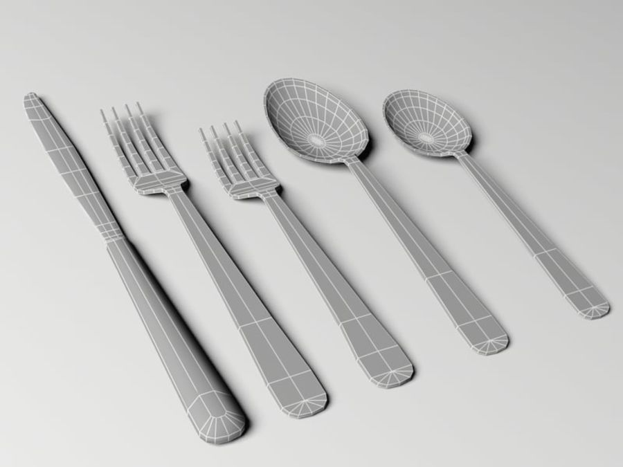 Tableware royalty-free 3d model - Preview no. 3
