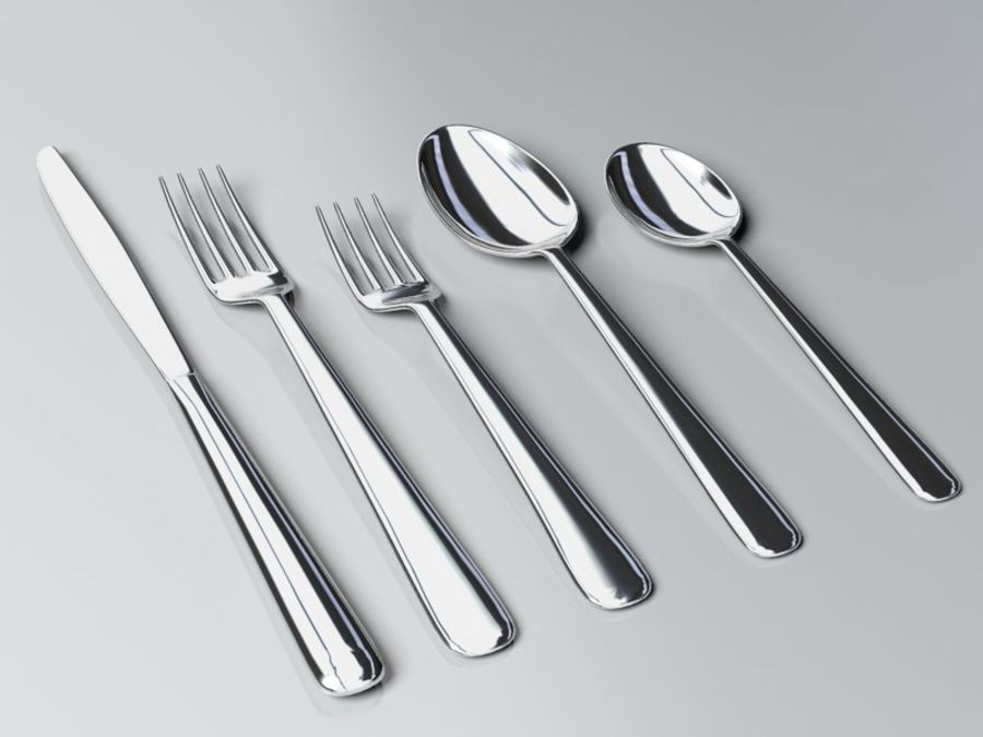 Tableware royalty-free 3d model - Preview no. 2