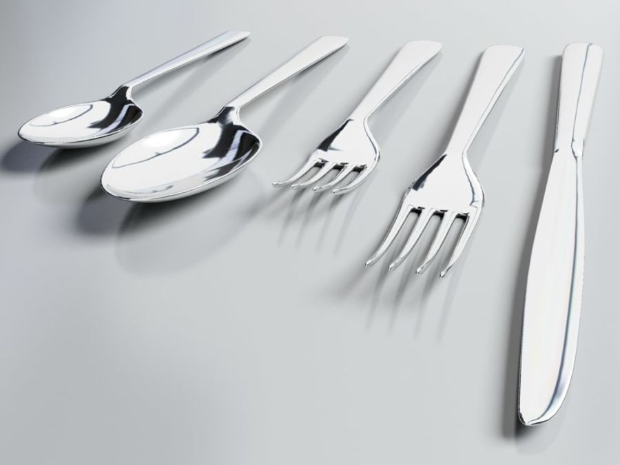 Tableware royalty-free 3d model - Preview no. 6