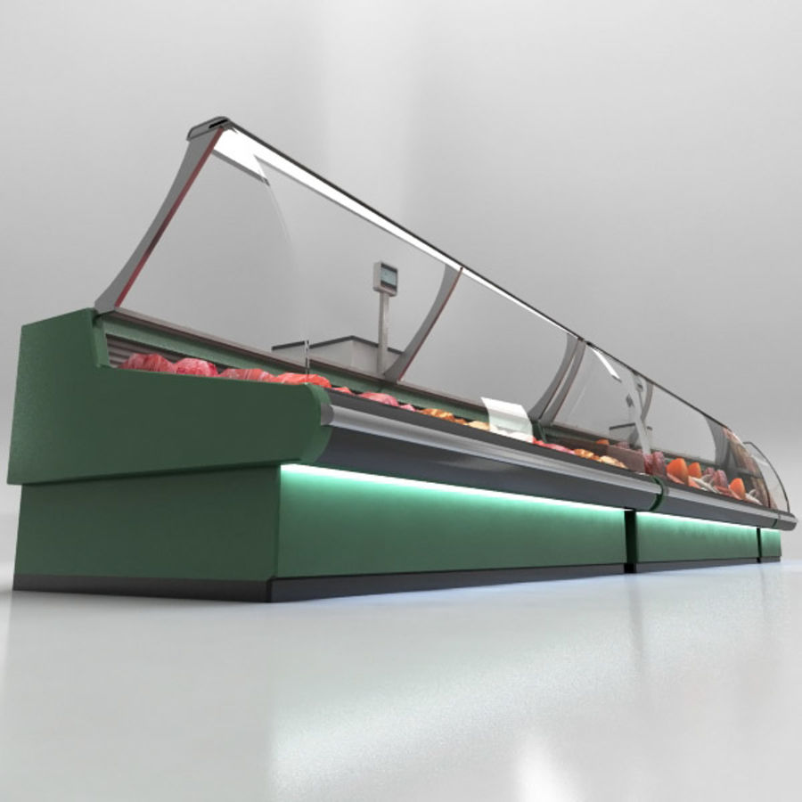 Deli Counters royalty-free 3d model - Preview no. 9