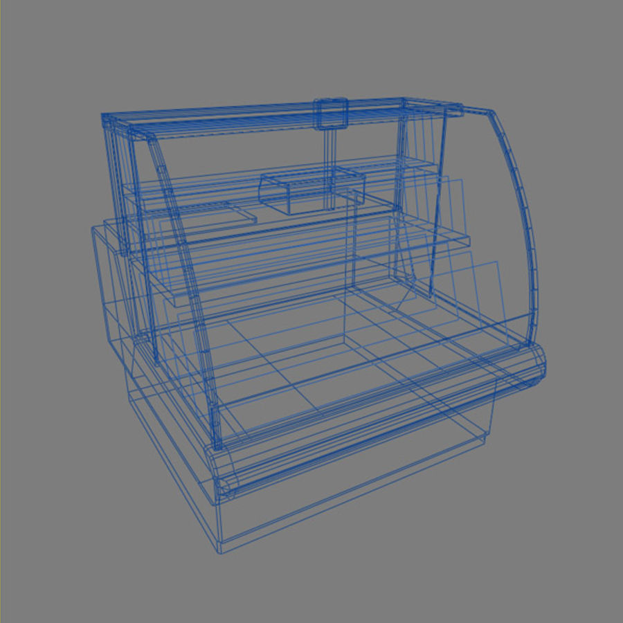 Deli Counters royalty-free 3d model - Preview no. 8