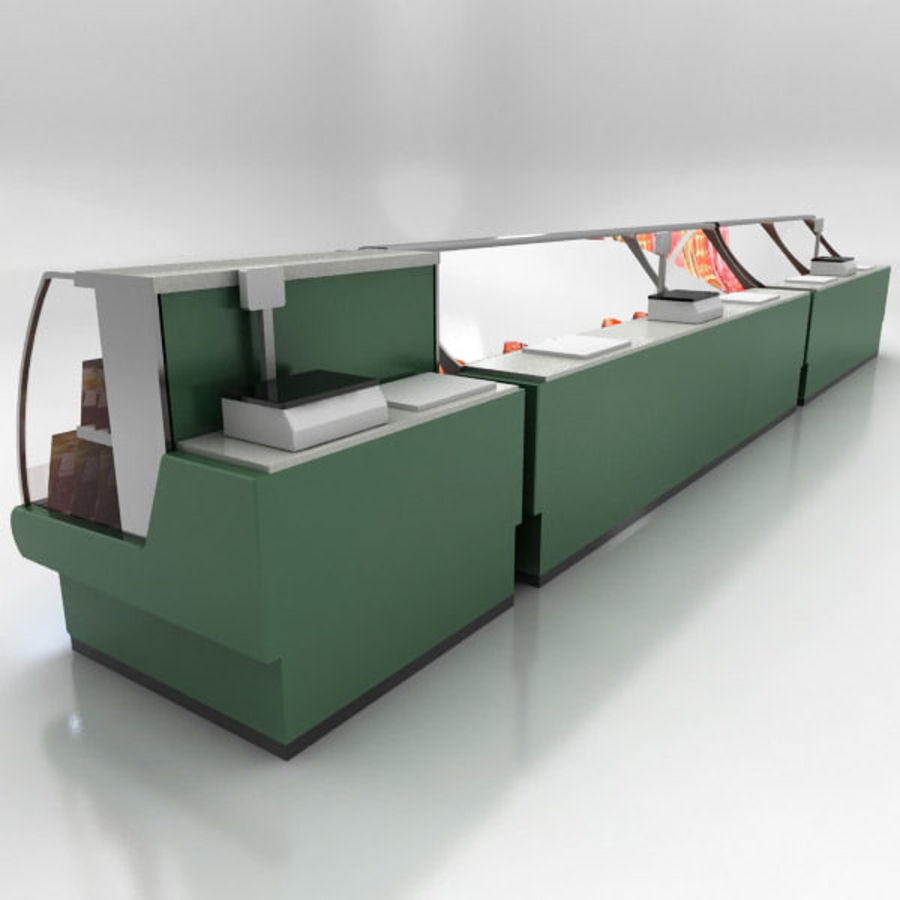 Deli Counters royalty-free 3d model - Preview no. 10