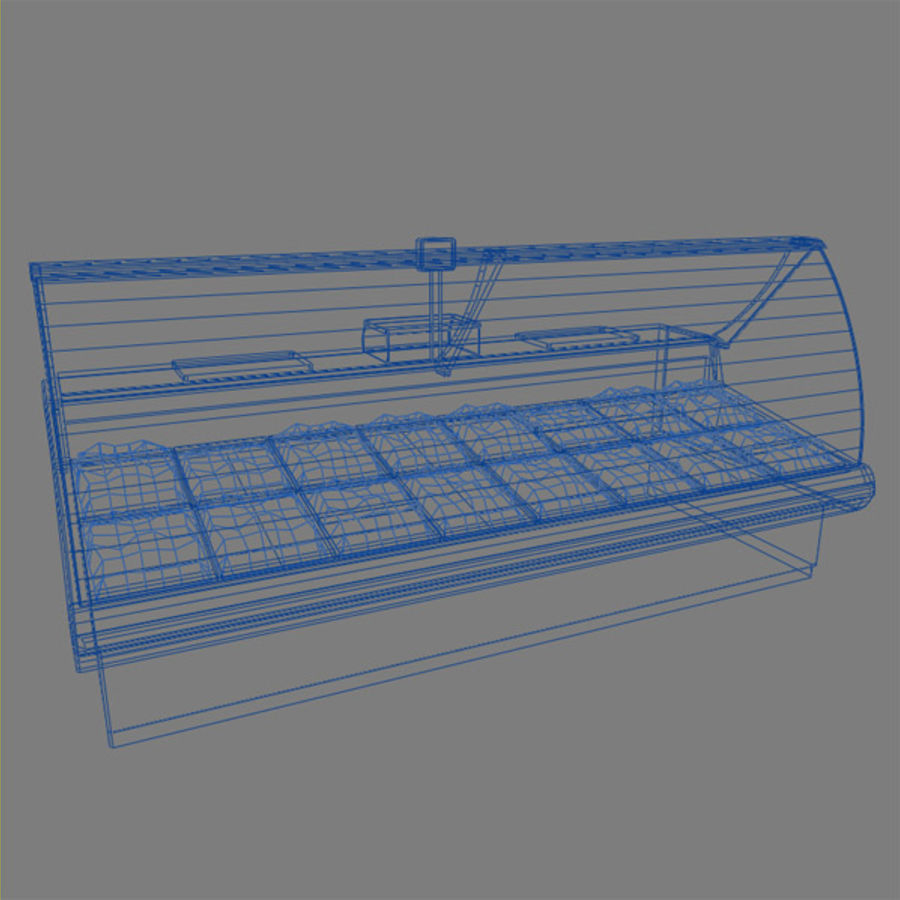 Deli Counters royalty-free 3d model - Preview no. 4