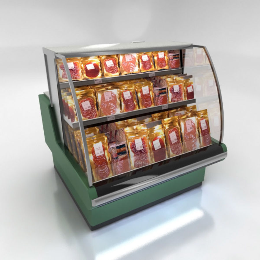 Deli Counters royalty-free 3d model - Preview no. 7