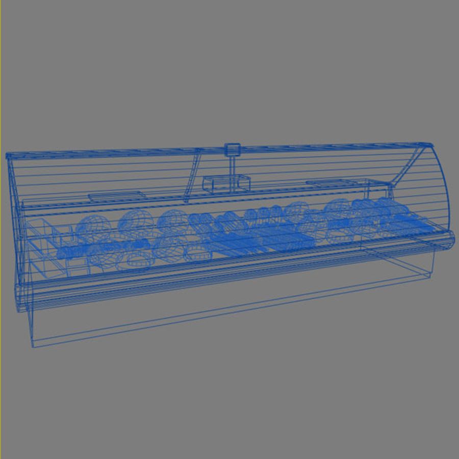 Deli Counters royalty-free 3d model - Preview no. 6