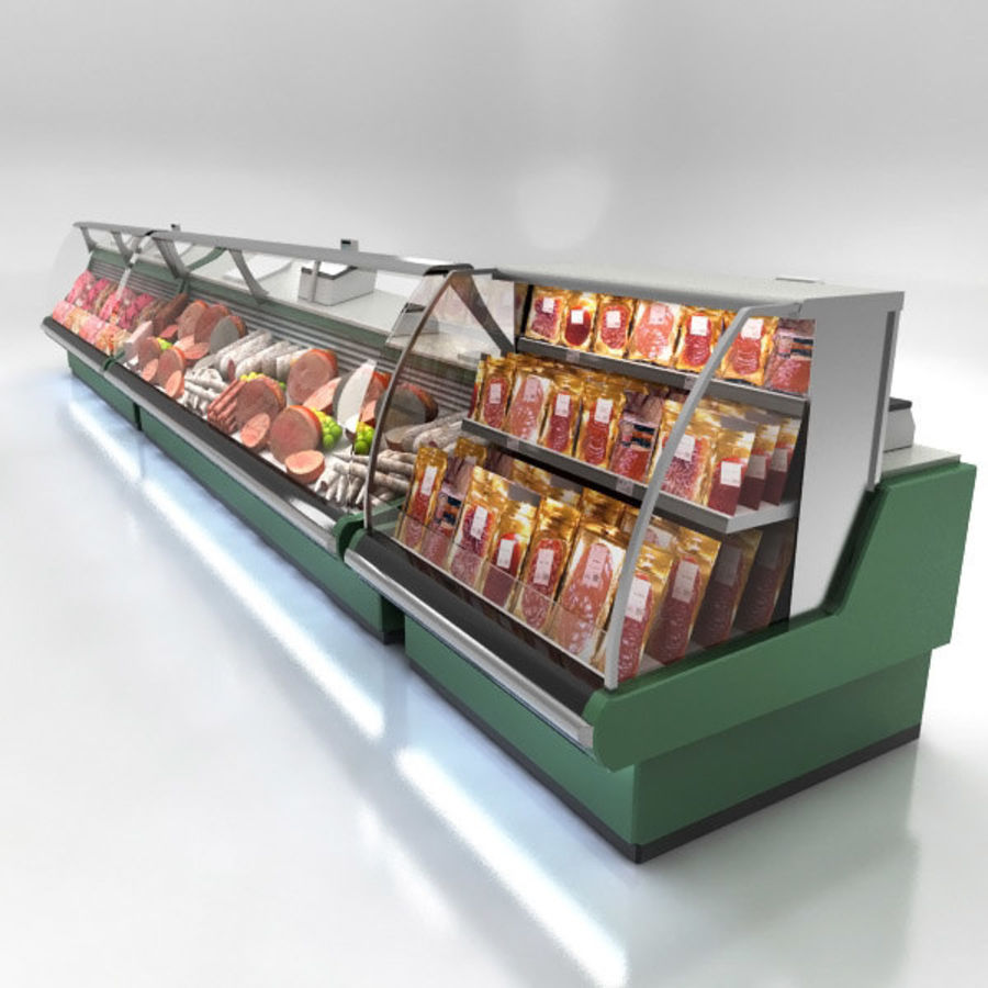 Deli Counters royalty-free 3d model - Preview no. 2