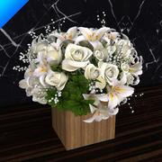 flower bouquet 01 3d model