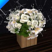 bukiet kwiatów 01 3d model