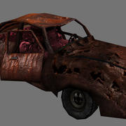 wrecked car 1 3d model