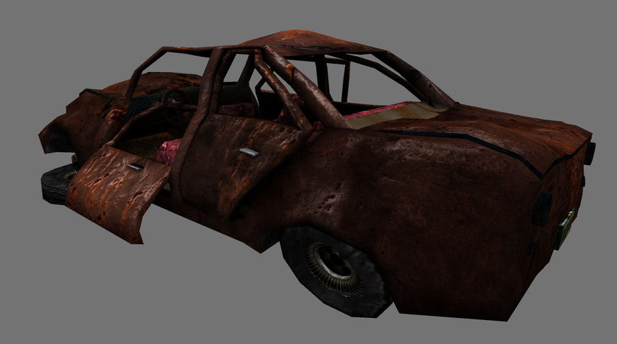 wrecked car 1 royalty-free 3d model - Preview no. 6