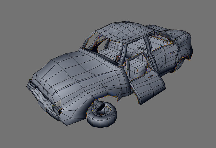 wrecked car 1 royalty-free 3d model - Preview no. 7