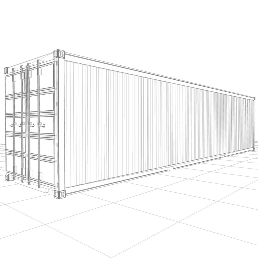 Shipping Container royalty-free 3d model - Preview no. 14