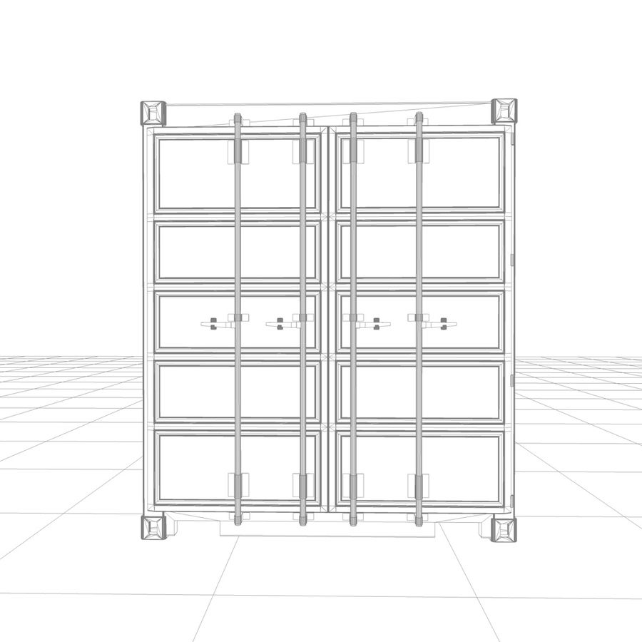 Shipping Container royalty-free 3d model - Preview no. 13
