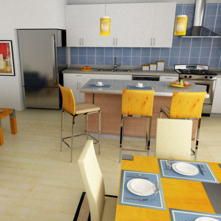 Alta definição Modern Classic Living Room royalty-free 3d model - Preview no. 3