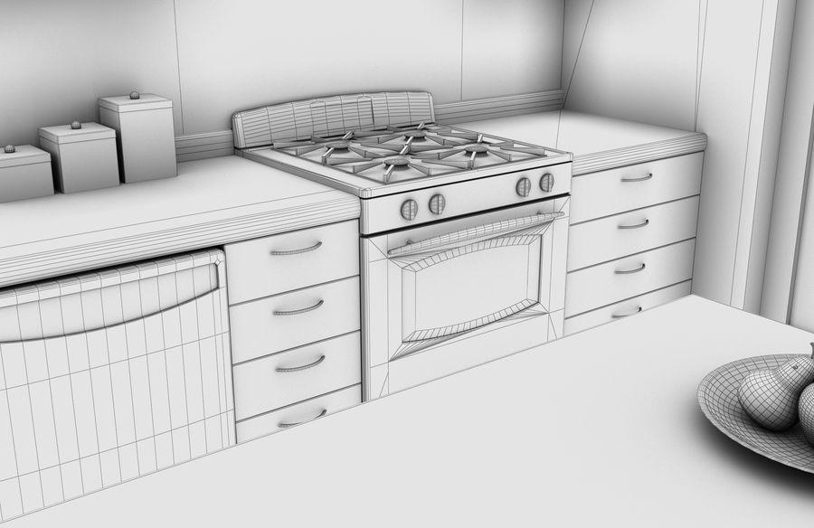Alta definição Modern Classic Living Room royalty-free 3d model - Preview no. 10