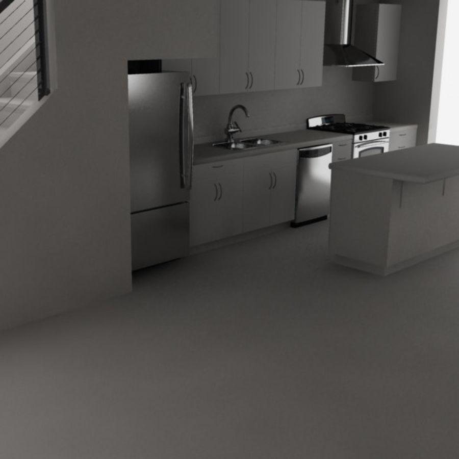 Alta definição Modern Classic Living Room royalty-free 3d model - Preview no. 4