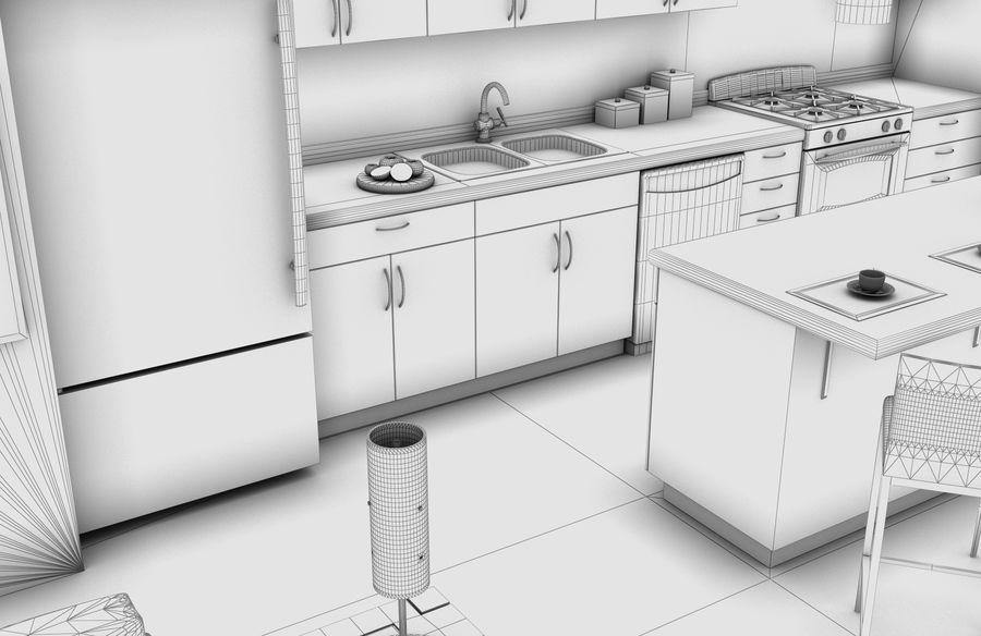 Alta definição Modern Classic Living Room royalty-free 3d model - Preview no. 8