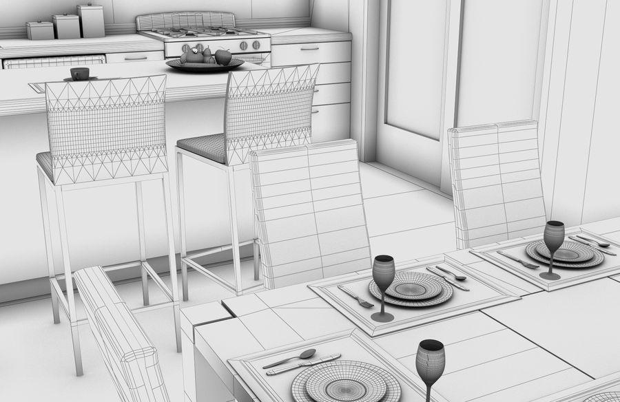 Alta definição Modern Classic Living Room royalty-free 3d model - Preview no. 11