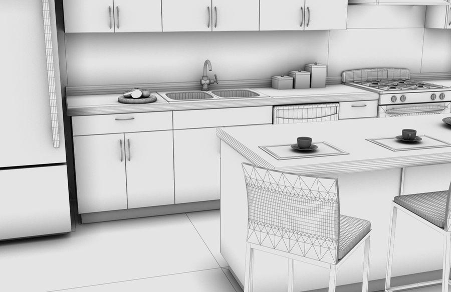 Alta definição Modern Classic Living Room royalty-free 3d model - Preview no. 7