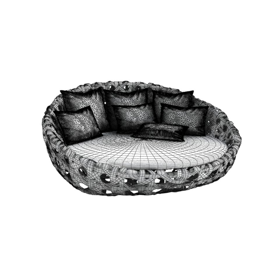 2 Bu0026b Italia Canasta Outdoor Sofa Royalty Free 3d Model   Preview No.