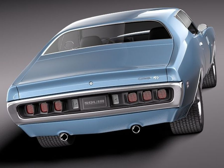 Dodge Charger 1971 royalty-free 3d model - Preview no. 5