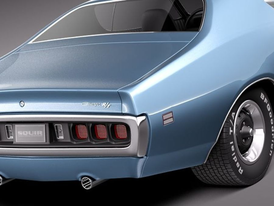 Dodge Charger 1971 royalty-free 3d model - Preview no. 4