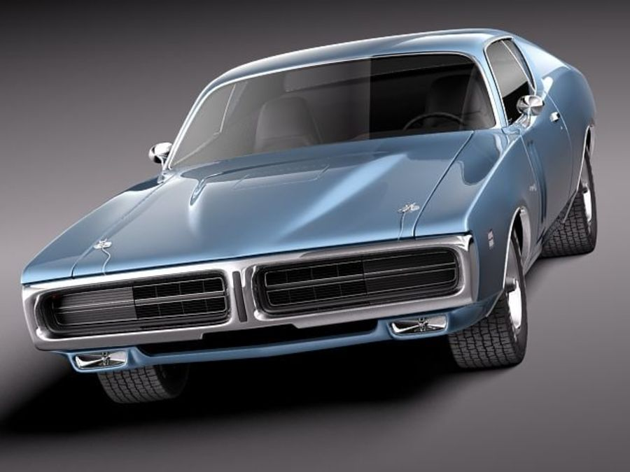 Dodge Charger 1971 royalty-free 3d model - Preview no. 2