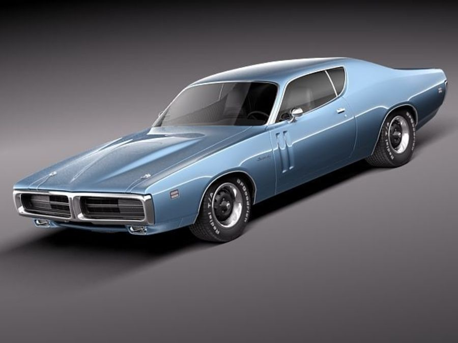 Dodge Charger 1971 royalty-free 3d model - Preview no. 1