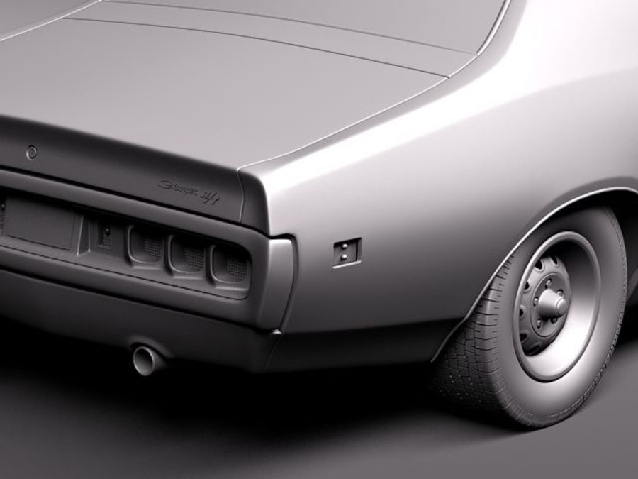 Dodge Charger 1971 royalty-free 3d model - Preview no. 10