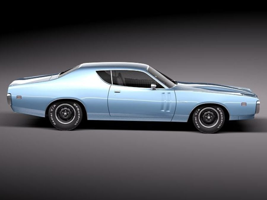 Dodge Charger 1971 royalty-free 3d model - Preview no. 7