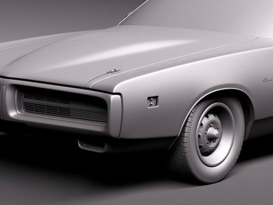 Dodge Charger 1971 royalty-free 3d model - Preview no. 12
