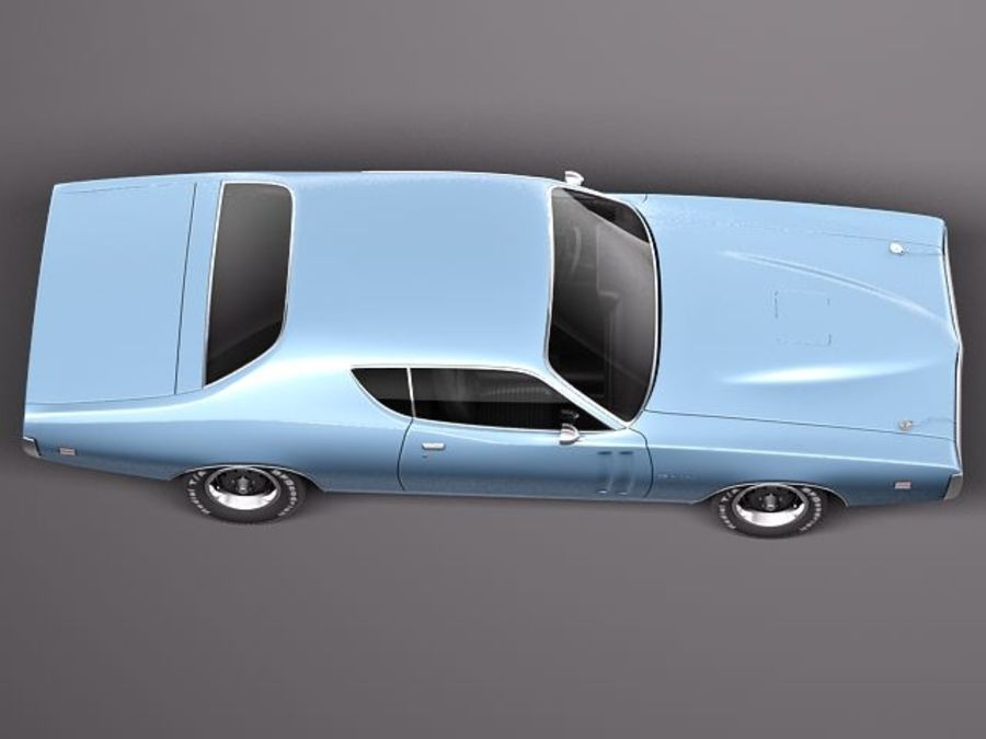 Dodge Charger 1971 royalty-free 3d model - Preview no. 8