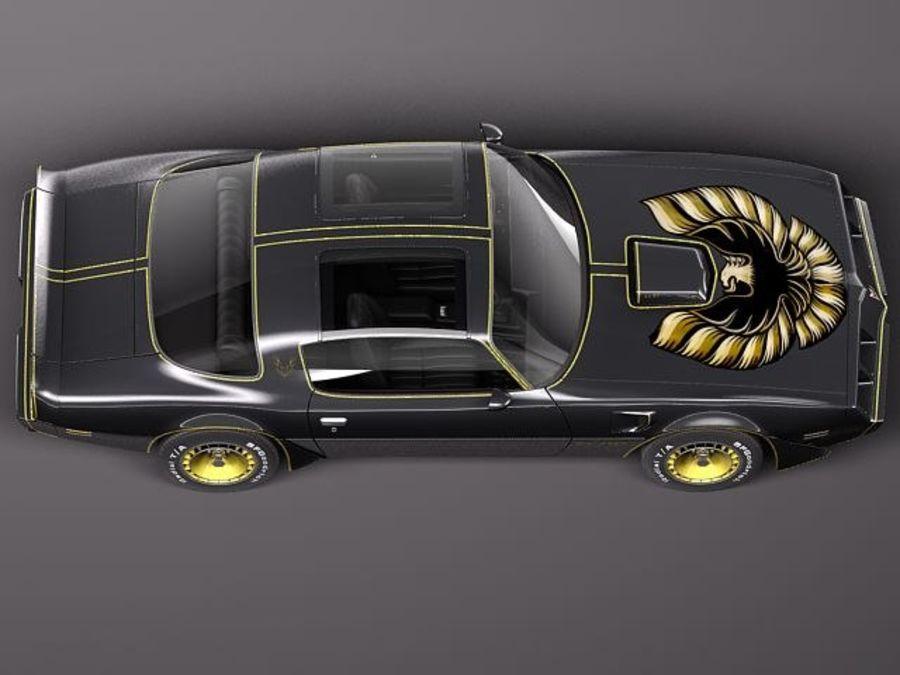 폰티악 파이어 버드 트랜스 오전 1979-81 SE royalty-free 3d model - Preview no. 8