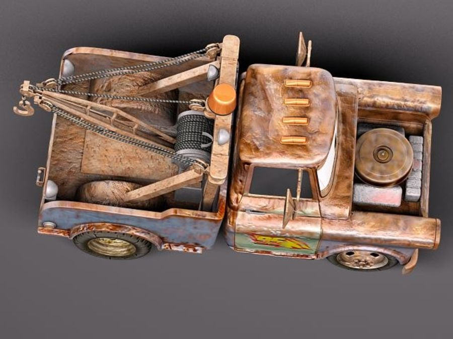 Tow Mater CARS royalty-free 3d model - Preview no. 9