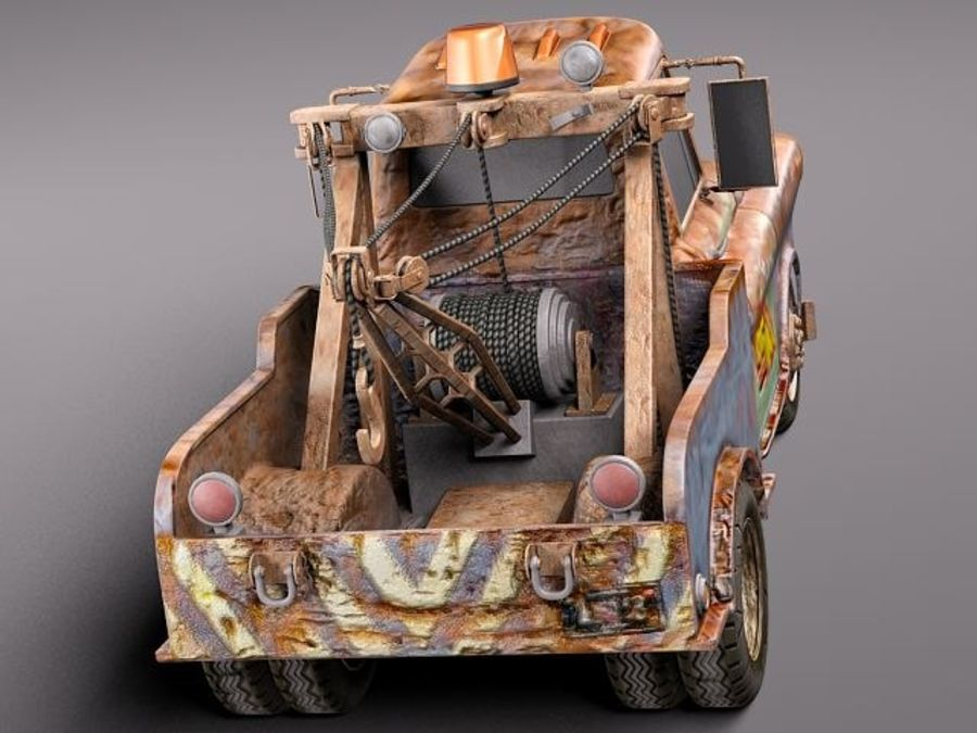 Tow Mater CARS royalty-free 3d model - Preview no. 7