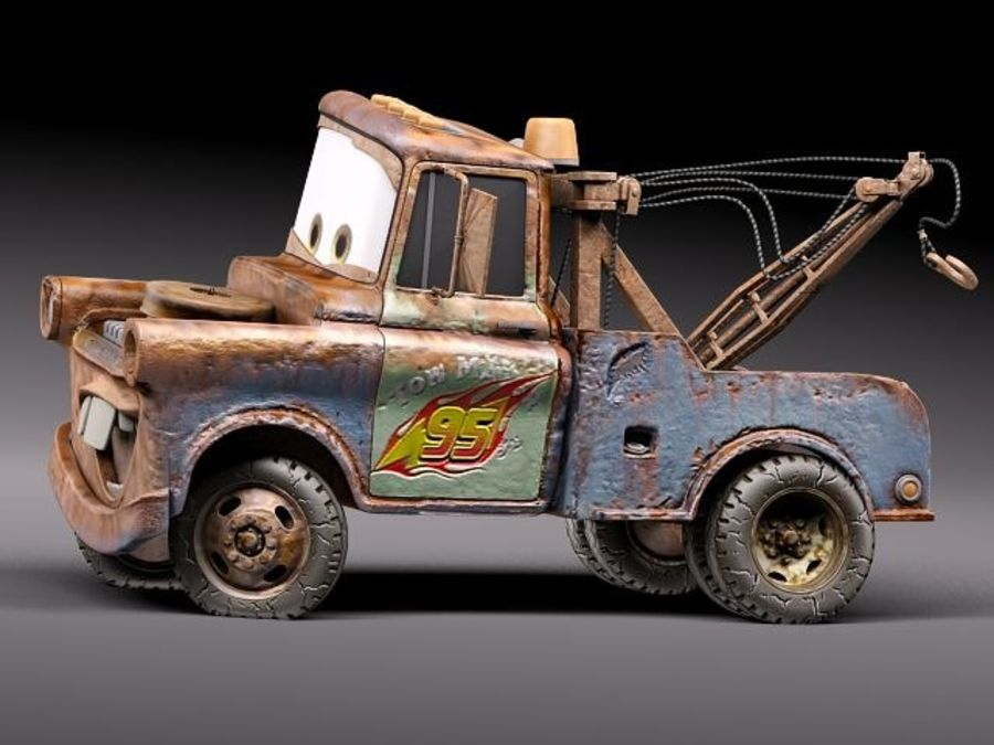 Tow Mater CARS royalty-free 3d model - Preview no. 15