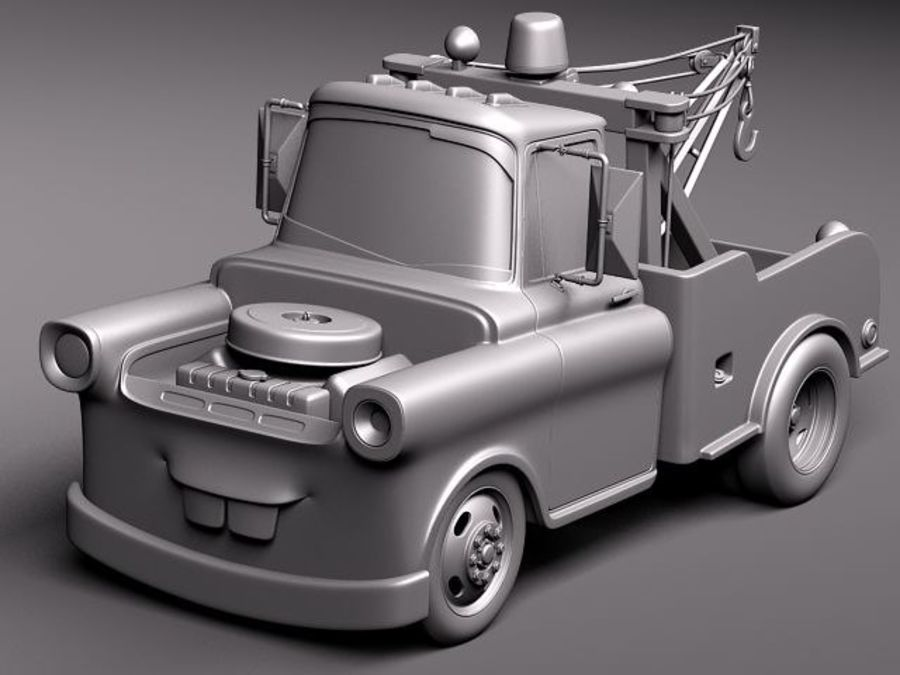 Tow Mater CARS royalty-free 3d model - Preview no. 13